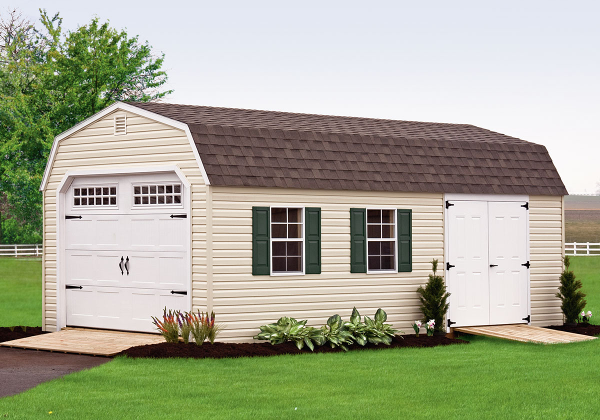 Outdoor Garage, Wood Siding, Dutch Home Outdoors, Middletown, DE
